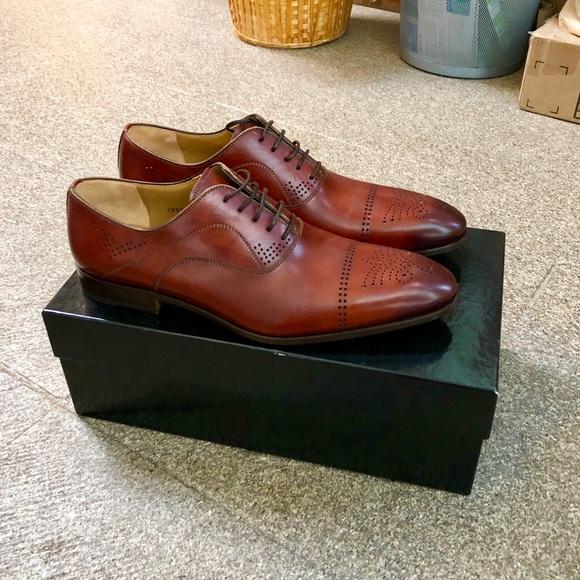 ad6cc77c581 NEW WITH BOX! Men's Magnanni Cognac Dress Shoes! NWT